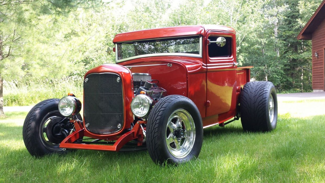 1932 Ford pickup hot rod rods custom h wallpaper