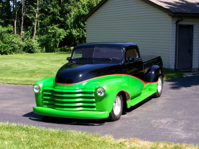 1948 Chevrolet Pickup hot rod rods custom h wallpaper