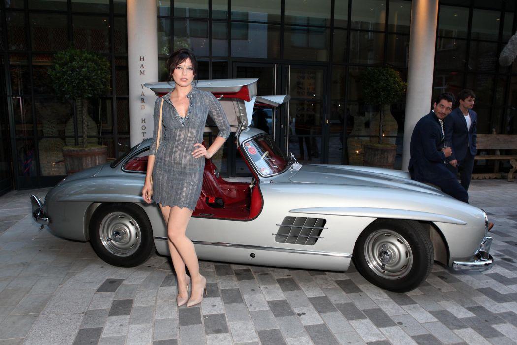 Daisy Lowe 1955 300SL Mercedes Mens Fashion Week GQ Party 2014 wallpaper