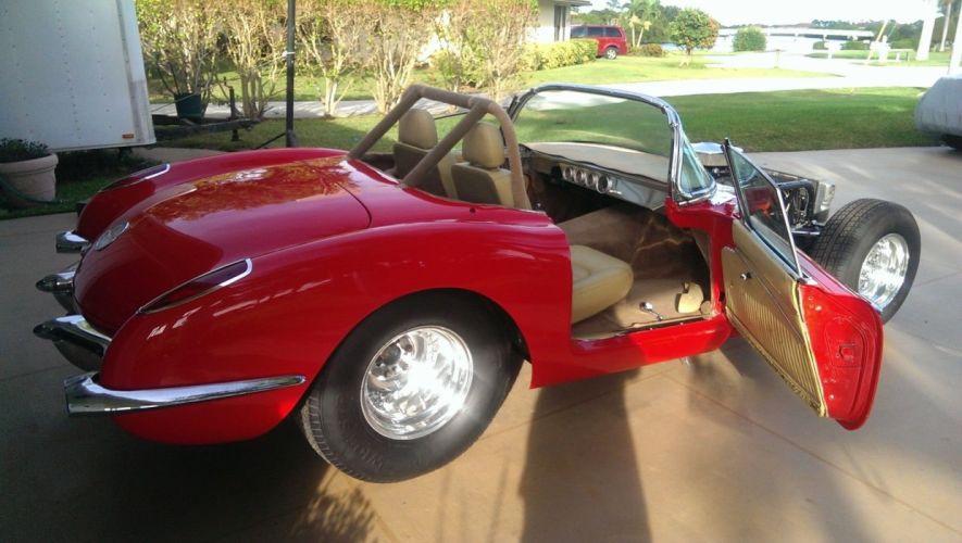 1960 Chevrolet Corvette hot rod rods custom h wallpaper