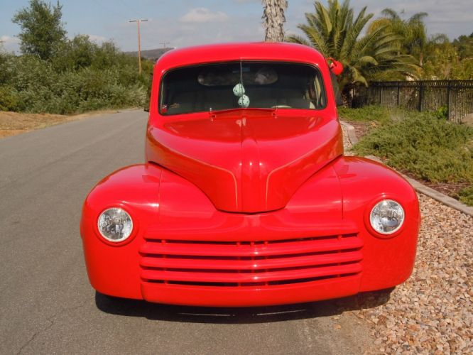 1947 FORD COUPE hot rod rods custom h wallpaper