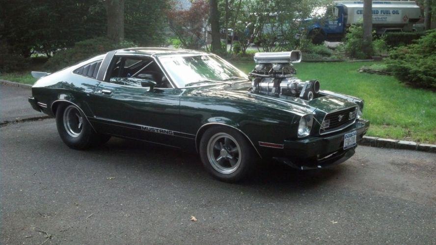 1974 Ford Mustang hot rod rods custom h wallpaper