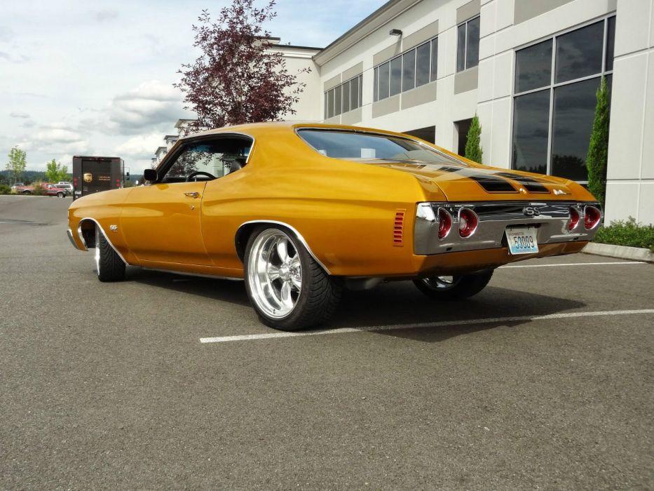 1971 Chevrolet Chevelle hot rod rods custom h wallpaper