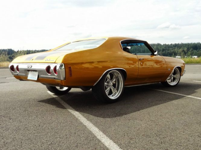 1971 Chevrolet Chevelle hot rod rods custom h wallpaper
