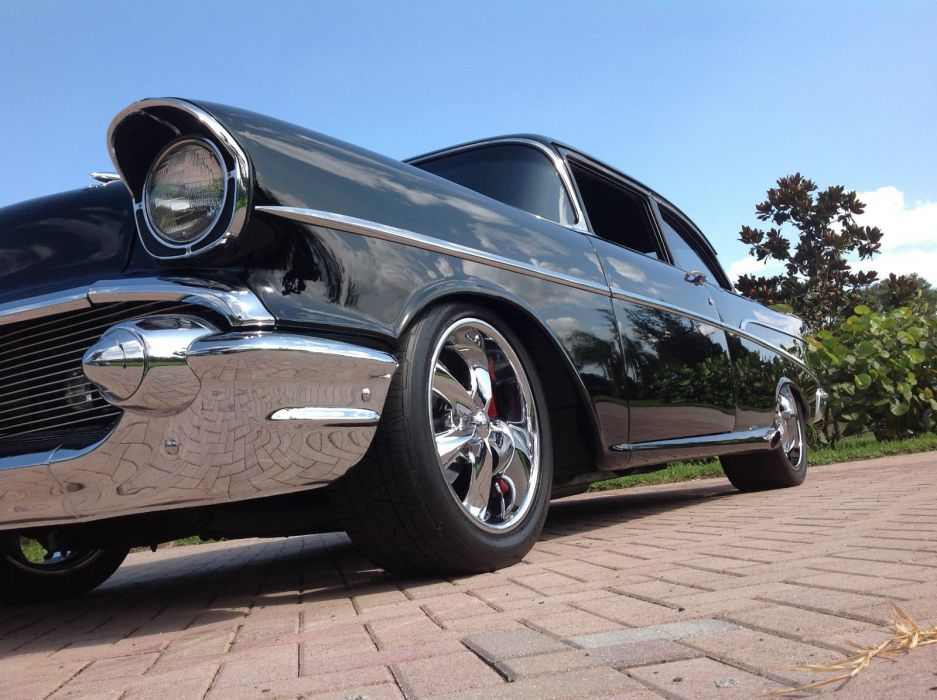 1957 Chevrolet Bel Air hot rod rods custom h wallpaper
