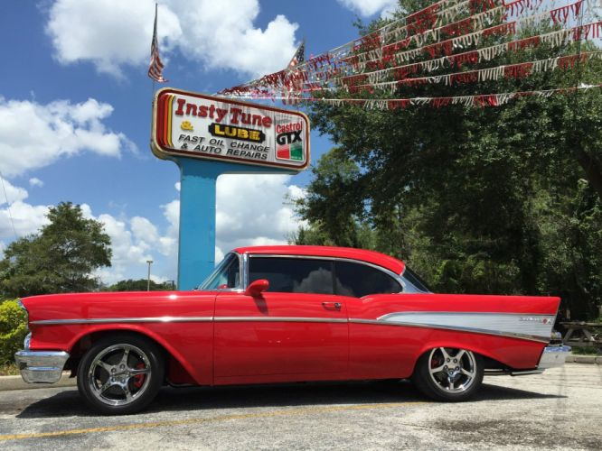 1957 Chevrolet Bel Air hot rod rods custom h wallpaper