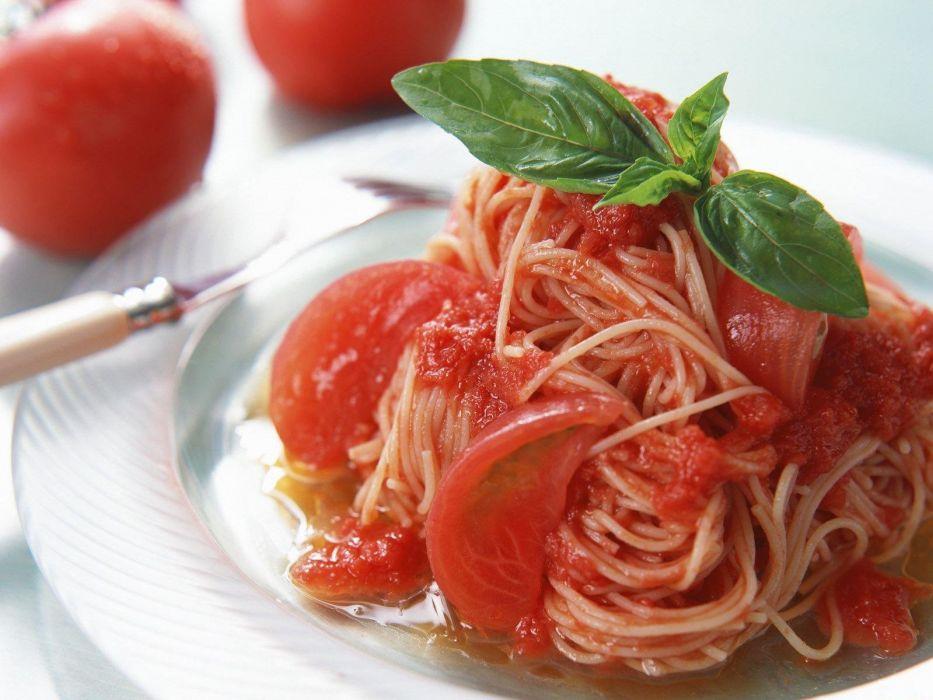 spaguettis tomate wallpaper