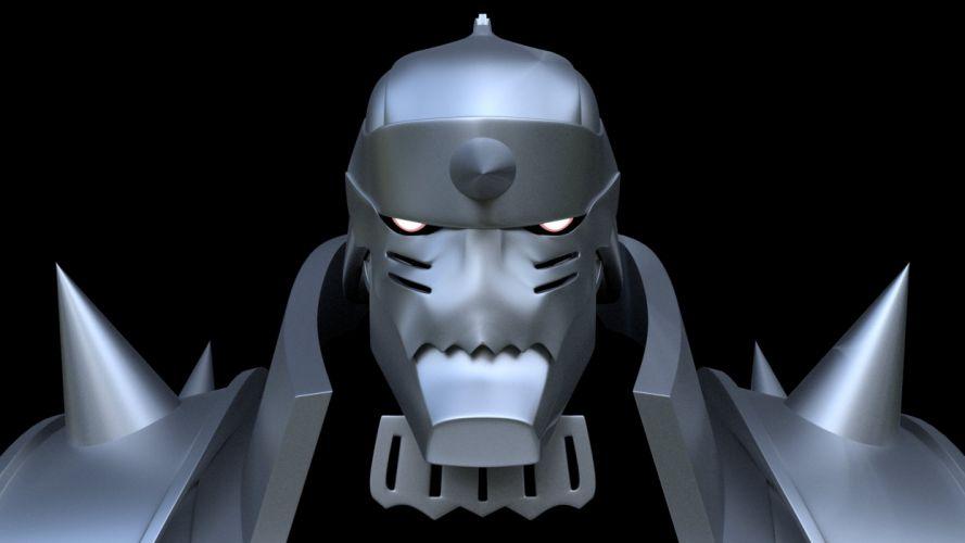 fma fullmetal alchemist brotherhood al alphonse robot armor 3D wallpaper