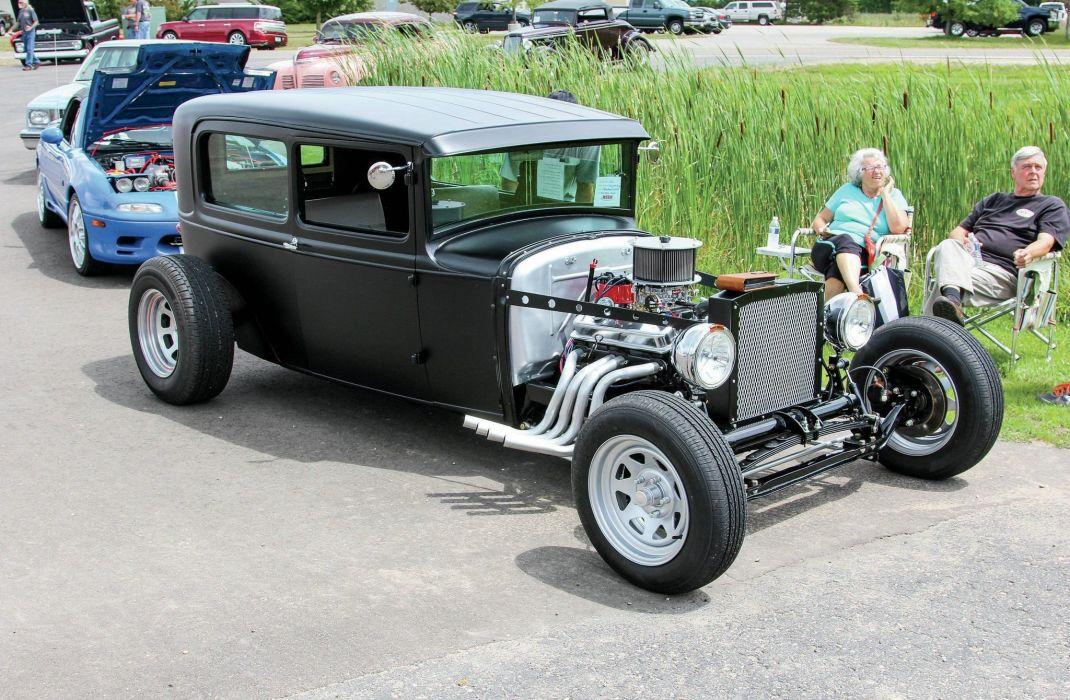 1930 Ford Model-A Tudor Hot Rod Hotrod Streetrod USA -01 wallpaper