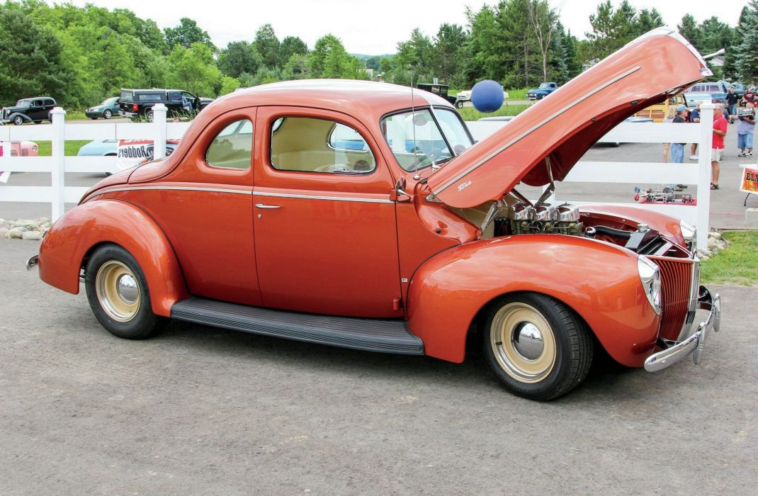 1940 Ford Deluxe Coupe Streetrod Street Hotrod Hot Rod Custom USA -01 wallpaper