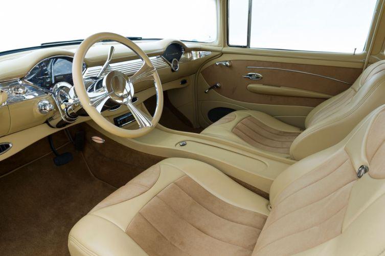 1955 Chevrolet Chevy Belair Bel Air Streetrod Street Rod Cruiser Low USA -05 wallpaper