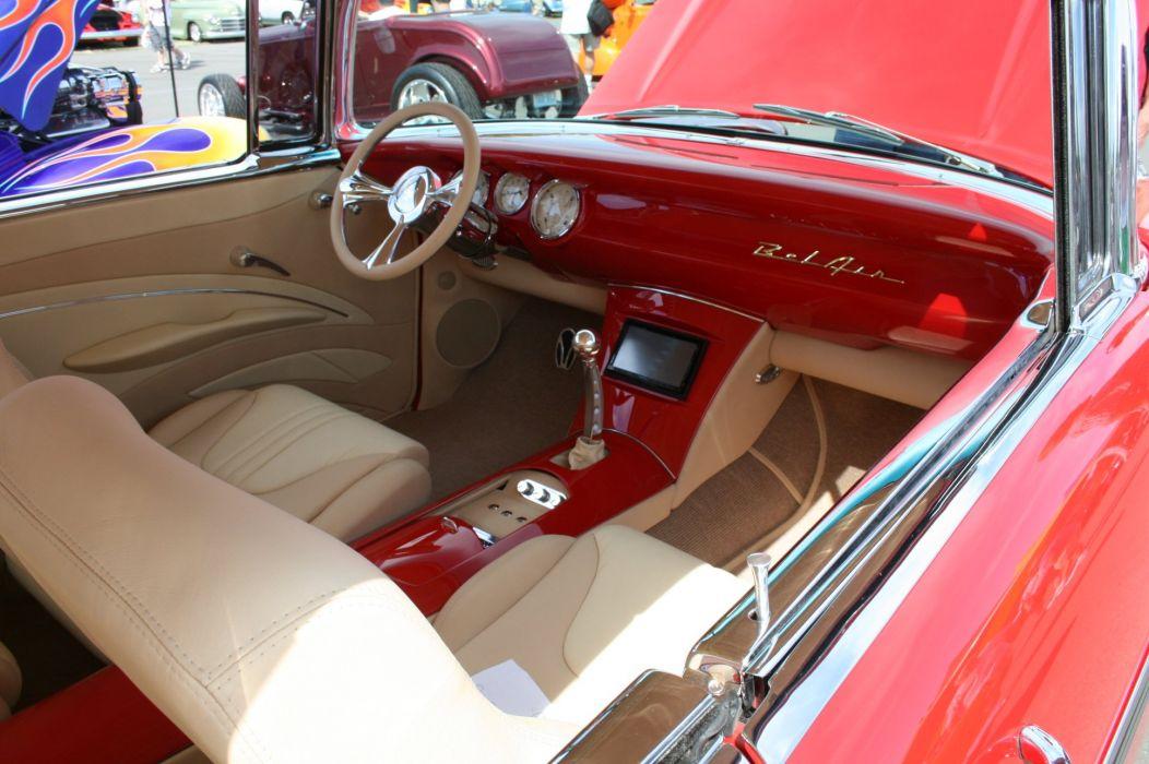 1957 Chevrolet Chevy Belair Bel Air Streetrod Street Hot Rod Hotrod Cruiser USA -03 wallpaper