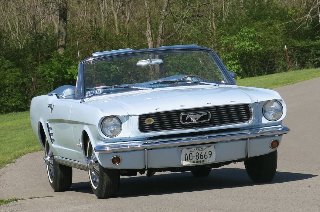 1966 Ford Mustang Convertible Muscle Classic Old Original USA -02 wallpaper