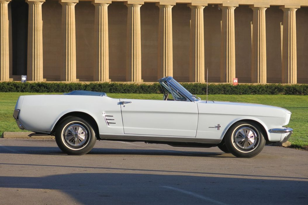 1966 Ford Mustang Convertible Muscle Classic Old Original USA -05 wallpaper