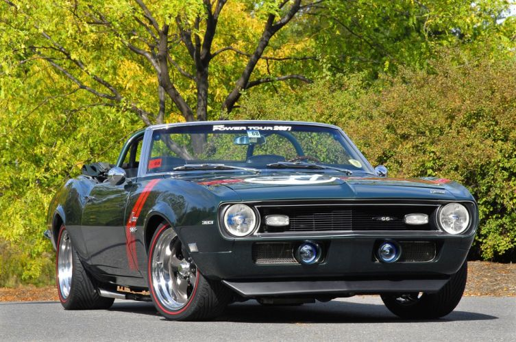 1968 Chevrolet Chevy Camaro Convertible Streetrod SuperStreet Pro Touring USA -01 wallpaper