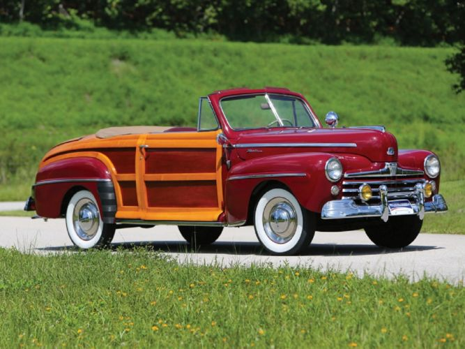 1947 Ford Super DeLuxe Sportsman Convertible cars classic wallpaper