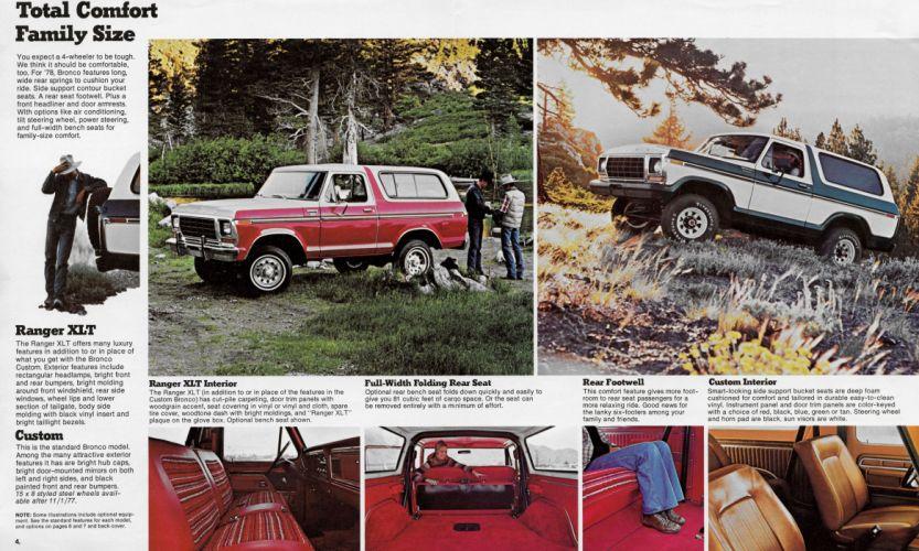 FORD BRONCO suv 4x4 truck lowrider custom poster wallpaper