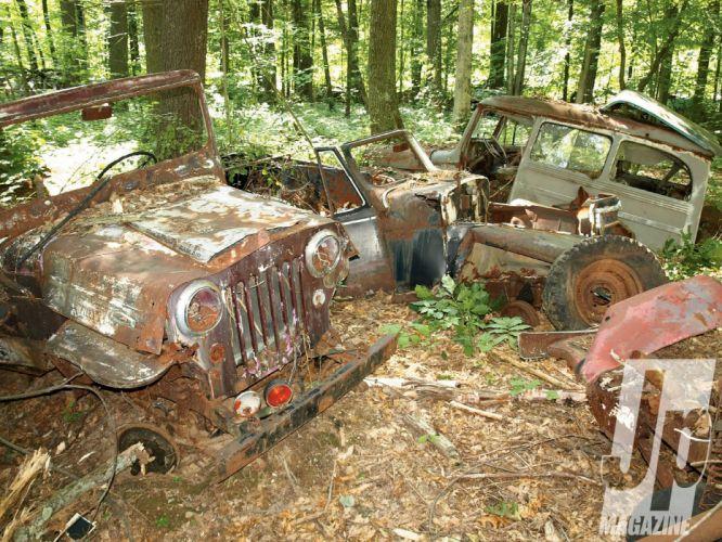 JUNKYARD cars auto automobile classic retro jeep wallpaper