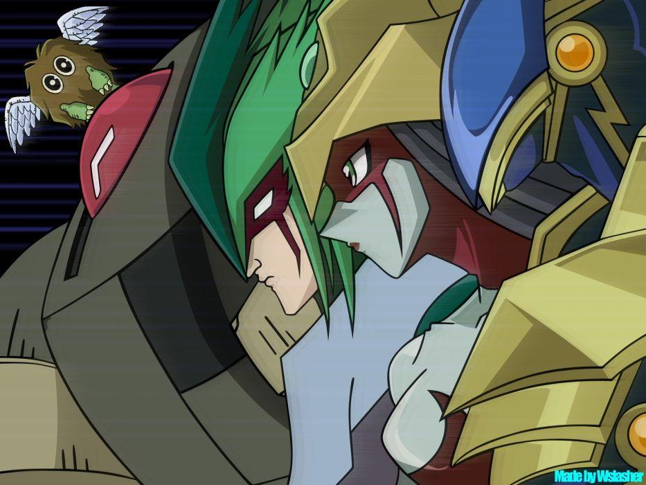 Yu-Gi-Oh! GX elemental heroes and winged kuriboh wallpaper