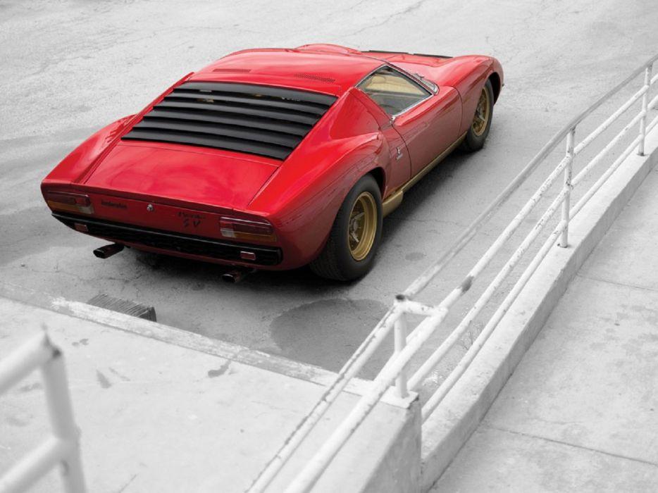 1971 Lamborghini Miura P400-SV cars classic wallpaper
