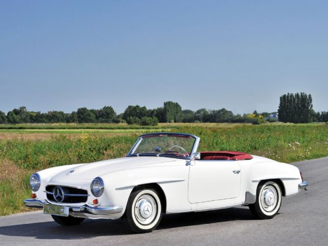 1961 Mercedes-Benz 190-SL cars classic wallpaper