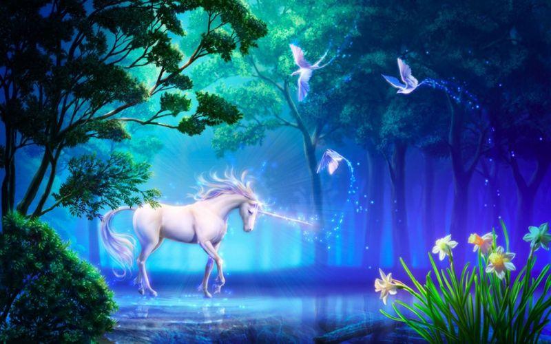 unicornio bosques wallpaper