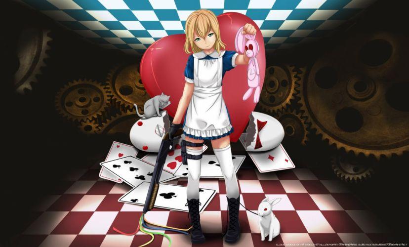 Alice in wonderland anime wallpaper