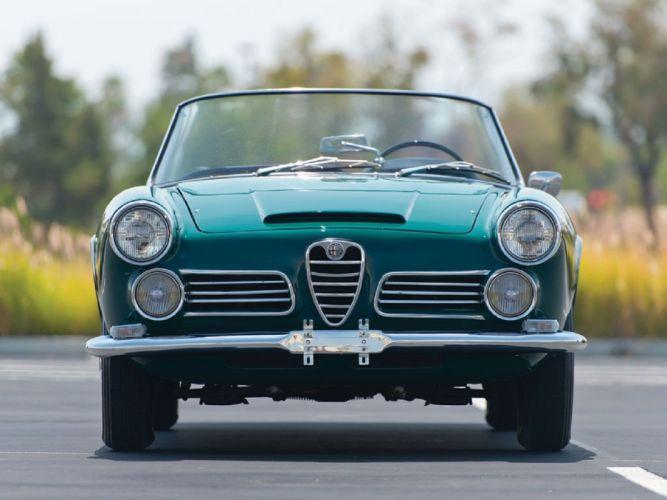 1963 Alfa Romeo 2600 Spider Touring classic cars wallpaper
