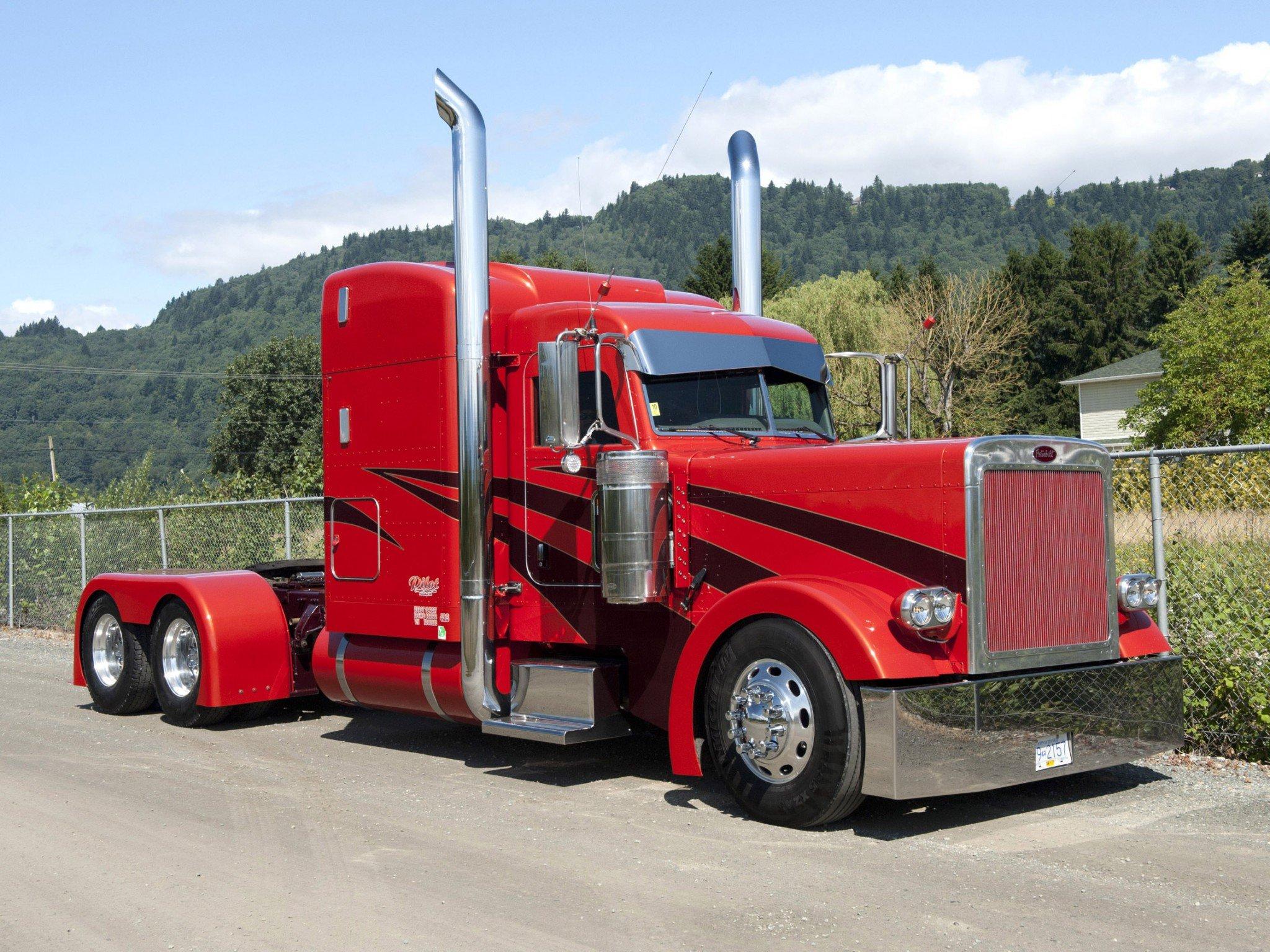 peterbilt semi tractor transport truck wallpaper 2048x1536 776436 wallpaperup. Black Bedroom Furniture Sets. Home Design Ideas
