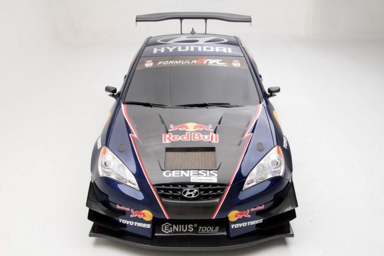 2009 RMR Red Bull Hyundai Genesis Coupe drift race racing d wallpaper