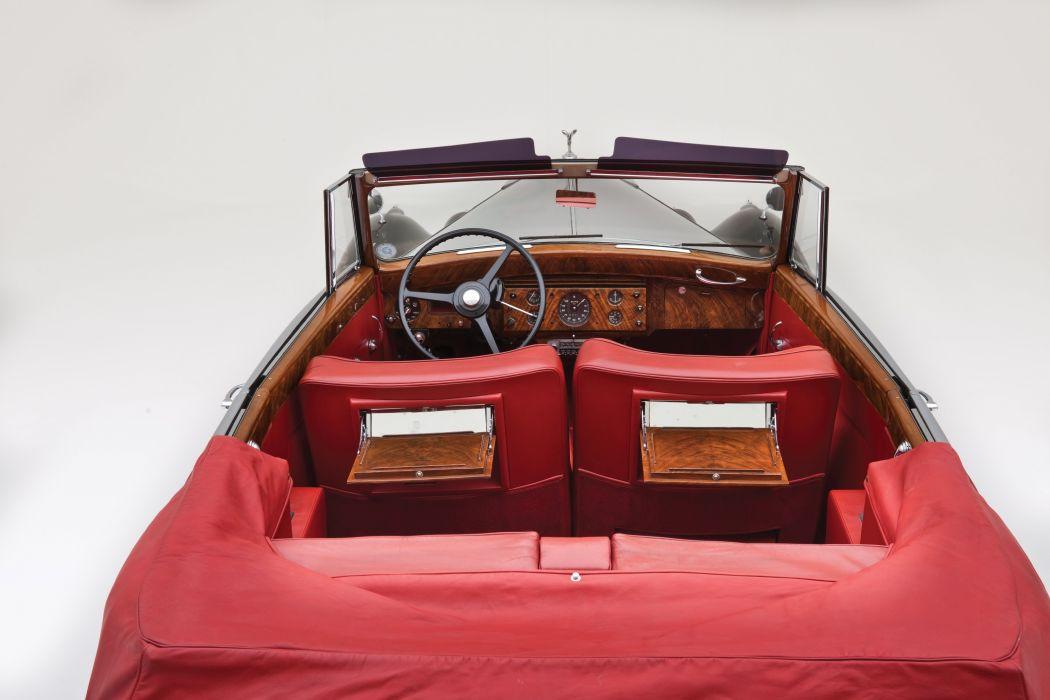 1955 Rolls Royce Silver Wraith Drophead Coupe Park Ward luxury retro wallpaper