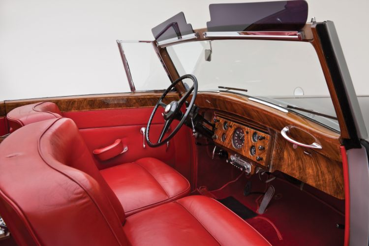 1955 Rolls Royce Silver Wraith Drophead Coupe Park Ward luxury retro wallpaper