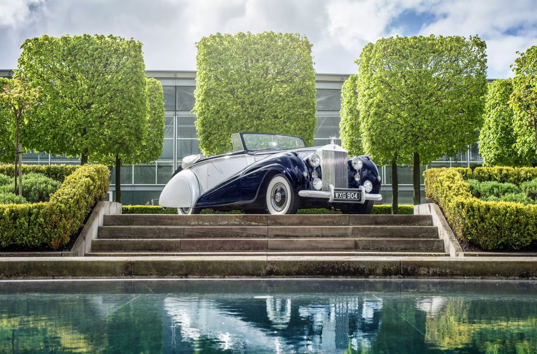 1950-54 Rolls Royce Silver Dawn Drophead Coupe Park Ward luxury retro wallpaper