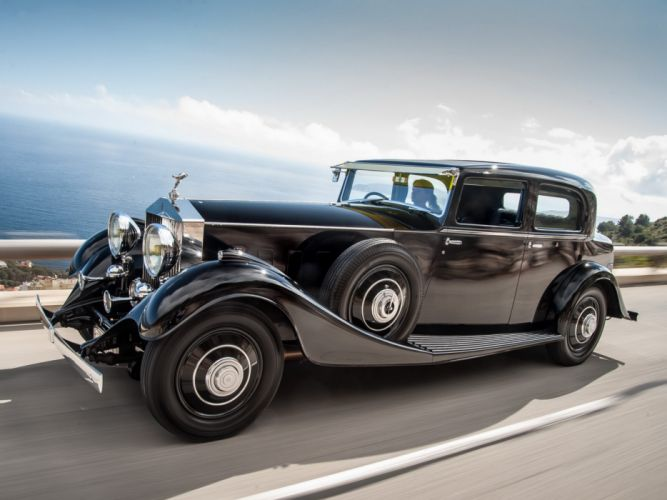 1933 Rolls Royce Phantom II Continental Saloon luxury retro vintage wallpaper