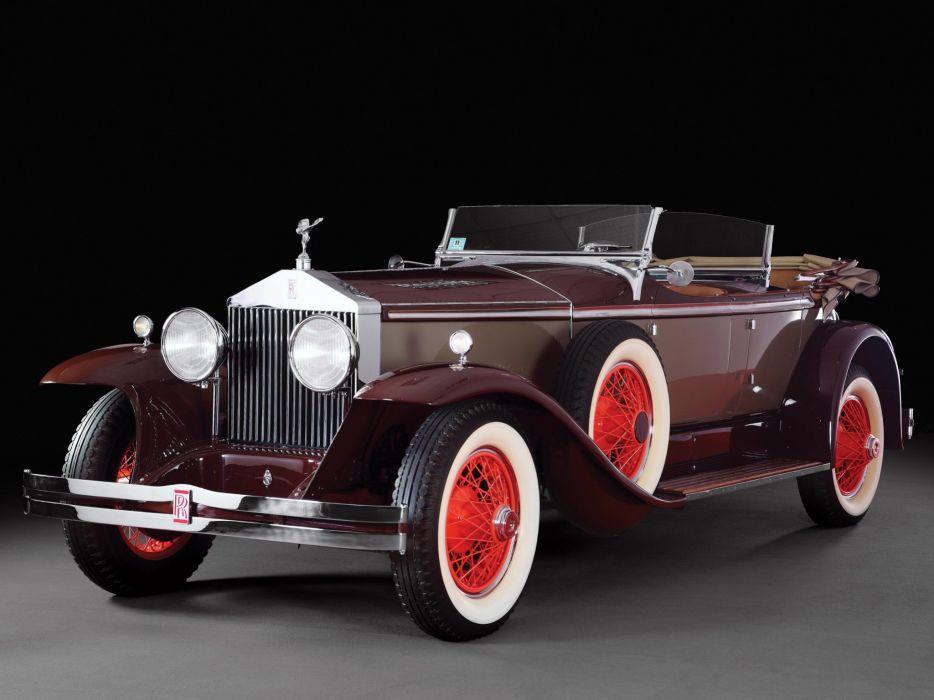 1929 Rolls Royce Phantom I Ascot Tourer Brewster S178FR luxury retro vintage wallpaper