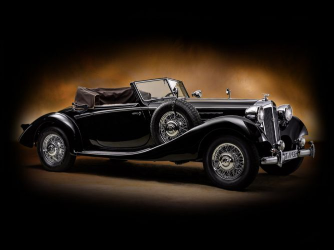 1937 Horch 930 V Glaser Spezial Roadster luxury retro vintage wallpaper