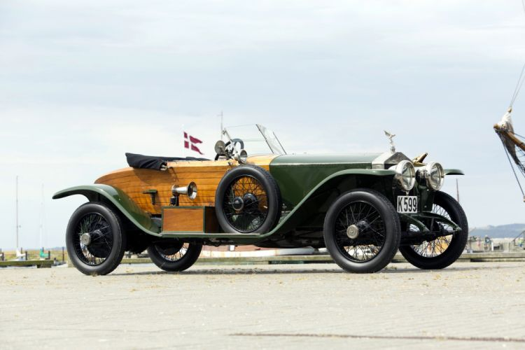 1914 Rolls Royce Silver Ghost Boattail Skiff Schebera luxury retro vintage wallpaper