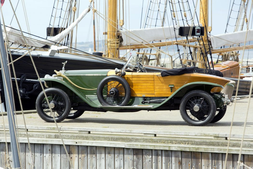 1914 Rolls Royce Silver Ghost Boattail Skiff Schebera luxury retro vintage wallpaper