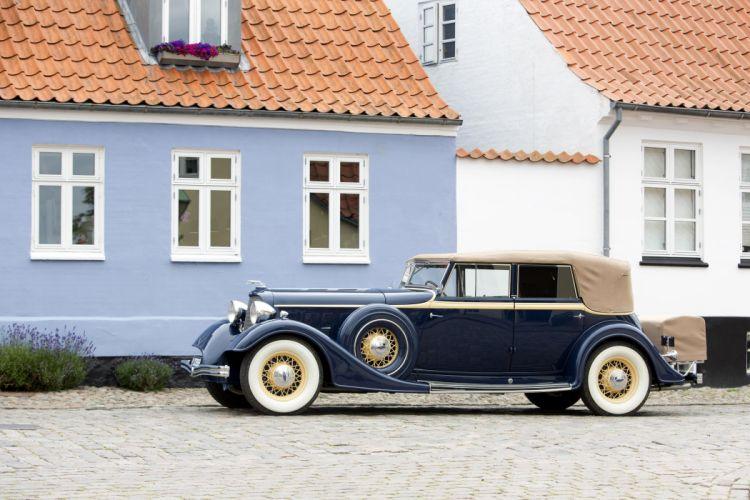 1934 Lincoln Model-KB Convertible Sedan Dietrich 271-281 luxury vintage retro wallpaper