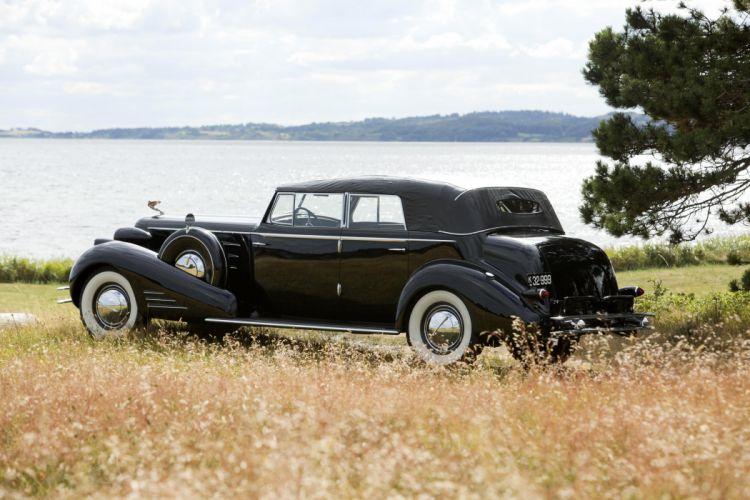 1934 Cadillac V16 452-D Convertible Sedan Fleetwood 5780 retro vintage luxury wallpaper