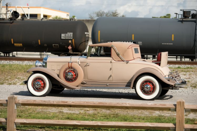 1931 Cadillac 370-A V12 Convertible Coupe Fleetwood 4535 luxury retro vintage wallpaper