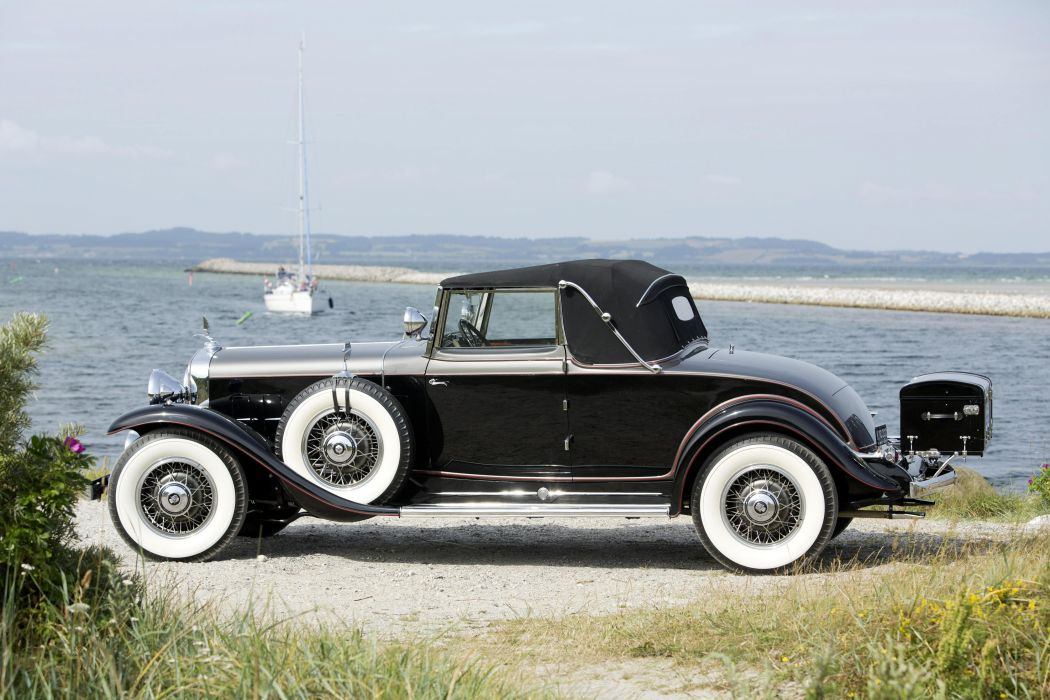1931 Cadillac 370-A V12 Convertible Coupe Fleetwood 4535 luxury retro vintage wallpaper