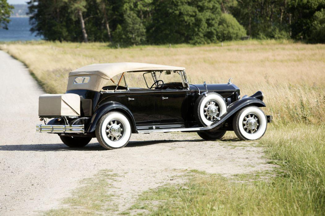 1931 Pierce Arrow Model-42 Dual Cowl Sport Phaeton luxury retro vintage wallpaper