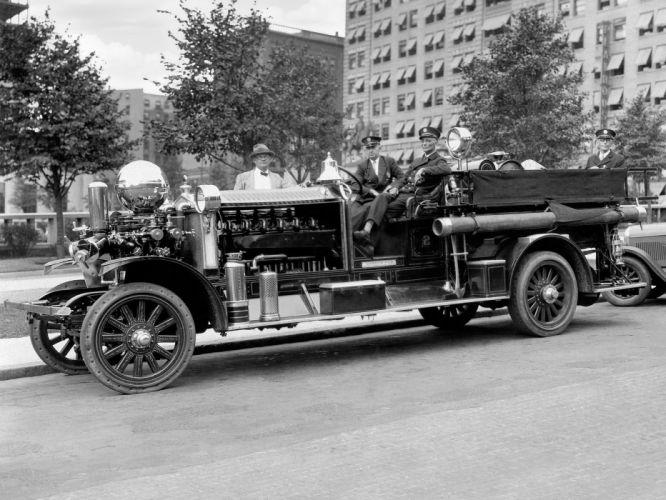 1925 Ahrens-Fox N-S-4 firetruck emergency retro vintage truck Ahrens Fox semi tractor wallpaper