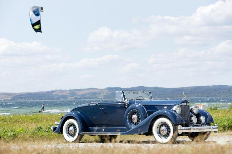 1934 Packard Twelve Coupe Roadster 1107-739 luxury retro vintage wallpaper