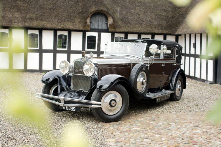 1930 Hispano Suiza H6C Cabriolet de Ville Kellner retro vintage luxury wallpaper