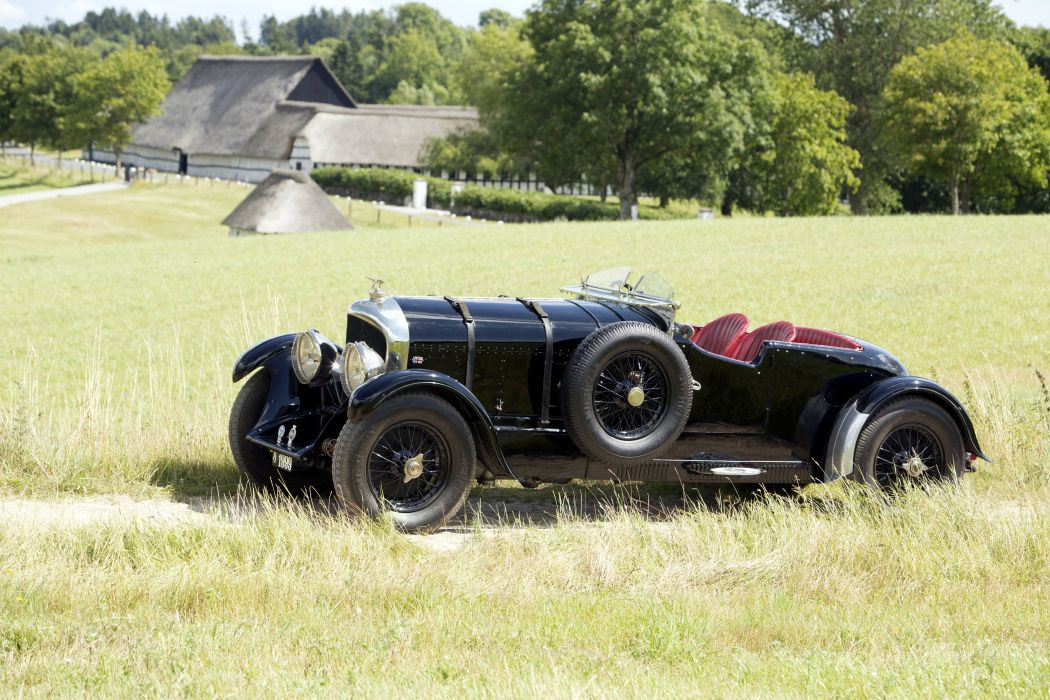 1927 Bentley 6-5Litre SWB Roadster retro vintage wallpaper