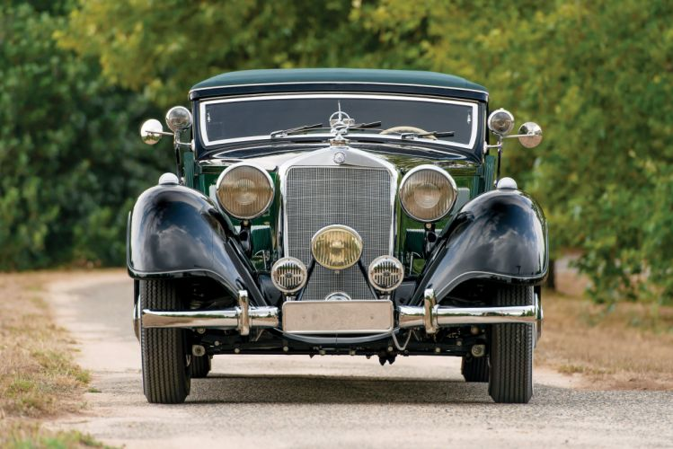1937 Mercedes Benz 320 Cabriolet A W142 luxury retro vintage wallpaper