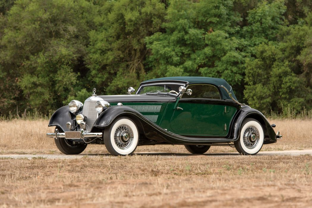 1937 Mercedes Benz 320 Cabriolet A W142 luxury retro vintage wallpaper
