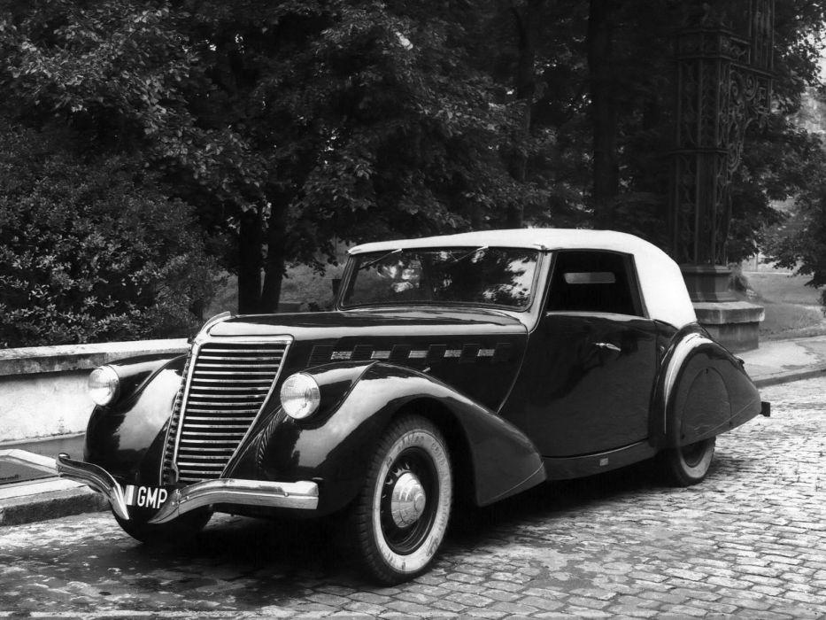 1938 Renault Suprastella Cabriolet luxury vintage wallpaper